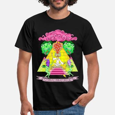 Rick And Morty Pyramid With Catchphrase - Mannen T-shirt
