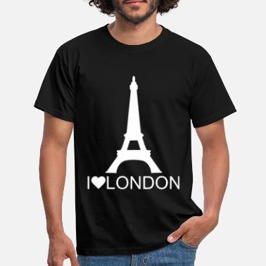 I Love London Rolig Eiffeltornet I LOVE London design - T-shirt herr