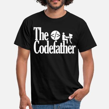 Fadder Codefather Coding Program Godfather Pate - T-shirt herr