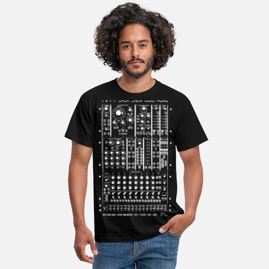 Geek T-Shirts - Modular Synth Big - Men's T-Shirt black