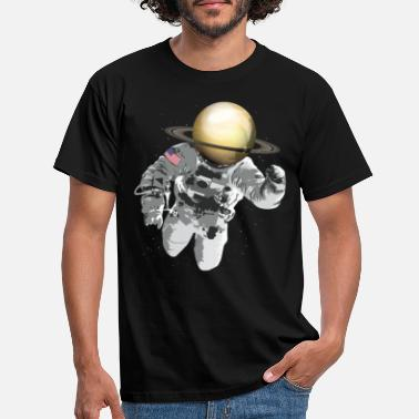 Saturn Astronaut universe Saturn - Men's T-Shirt