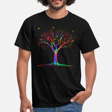 Art Magic Tree - Psychedelic Art - Men's T-Shirt