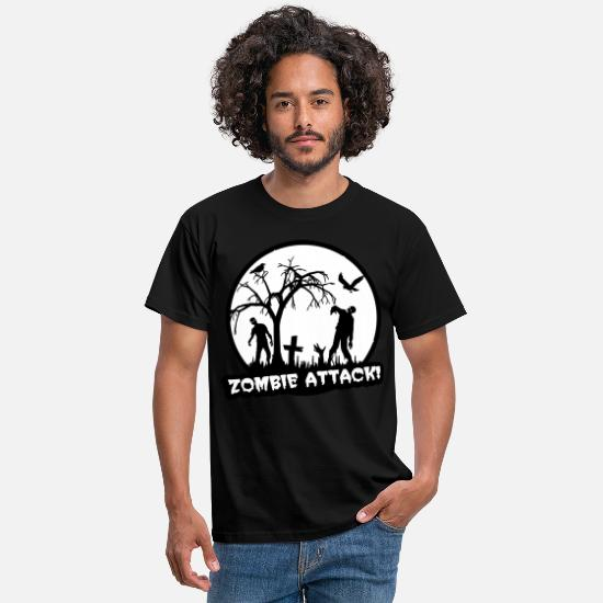Halloween T-Shirts - Zombie Attack - Halloween - Men's T-Shirt black