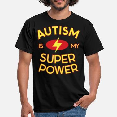 Awareness Autism Design for Super Power Lovers - Men's T-Shirt