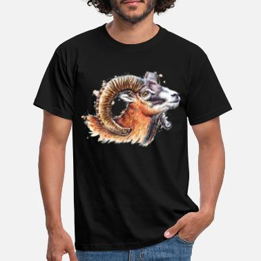 Watercolour SM Mufflon | moufflon - Männer T-Shirt