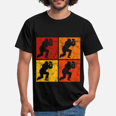 Color Gotcha Airsoft Paintball Softair Retro Paintballer - Camiseta hombre