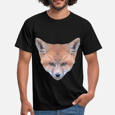 Polygon fox poly gift - Men's T-Shirt