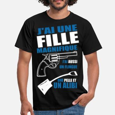 Flingue Fille magnifique flingue - pelle - alibi - T-shirt Homme