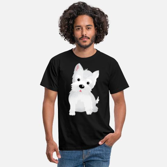 Jul T-shirts - Westie West Highland Terrier Hund T-Shirt Gave - T-shirt mænd sort