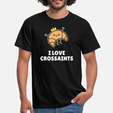 Veganuary I Love Crossaints - Men's T-Shirt