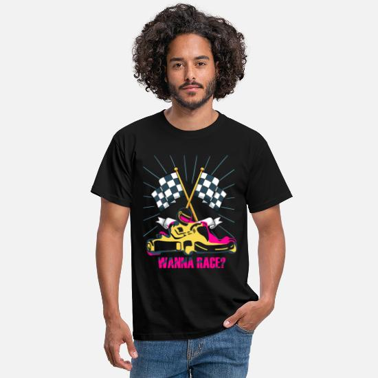 Love T-Shirts - wanna race - Men's T-Shirt black