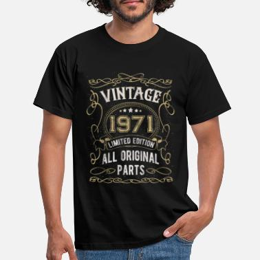 Vintage Vintage 1971 birthday gift 50 years - Men's T-Shirt
