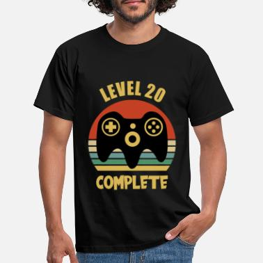 Video 20e verjaardag gamer t-shirt heren level 20 - Mannen T-shirt