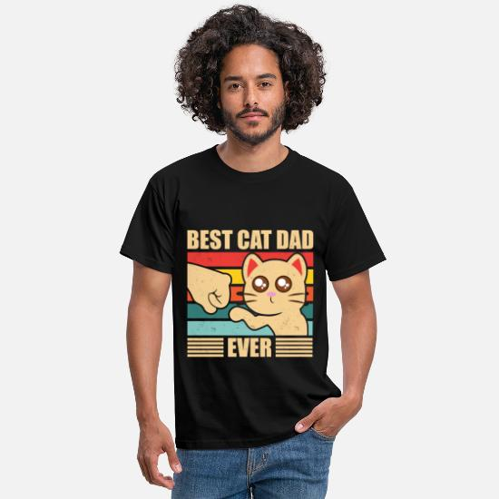 Dad T-shirts - Best Cat Dad Ever Cats Father's Day Gift Vintage - T-shirt herr svart