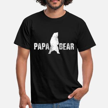 Papa papa bear - T-skjorte for menn