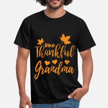 Thanksgiving Thanksgiving One Thankful Grandma - Men's T-Shirt