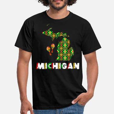 Staten Cinco De Mayo Michigan - T-shirt mænd
