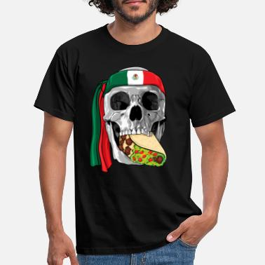Revolution Cinco De Mayo Skull Eating Taco - Men's T-Shirt