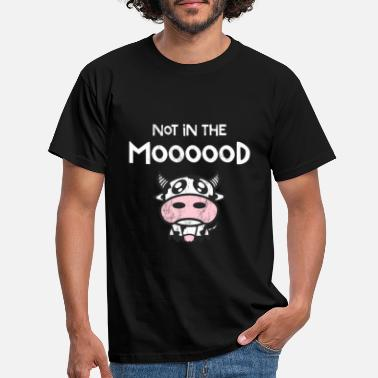 Cow Not in The Moood Funny Cow TShirt - Men's T-Shirt