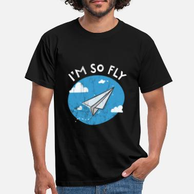 So Fly I'm So Fly Paper Airplane Cute Pun Graphic TShirt - T-shirt Homme