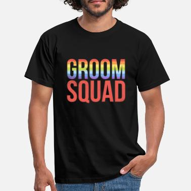 Gag Groom Squad Bachelor Party Gay Pride Lgbt - Men's T-Shirt