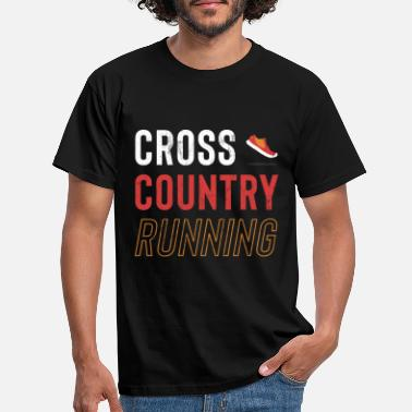 Cross XC Runner Cross Country Runners Training Tee Shirt - Men's T-Shirt