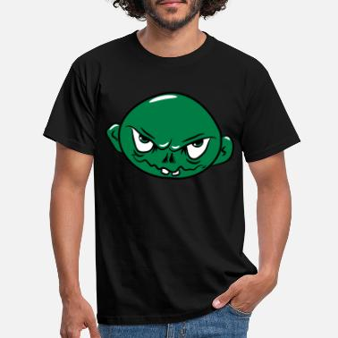 Apocalypse zombie funny creepy young head - Men's T-Shirt