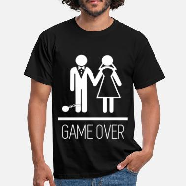 Stag Game over - Stag do - Hen party - Funny - Men's T-Shirt