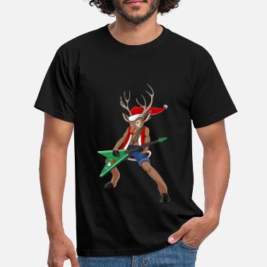 Rudolph Christmas Rock Reindeer - Men's T-Shirt