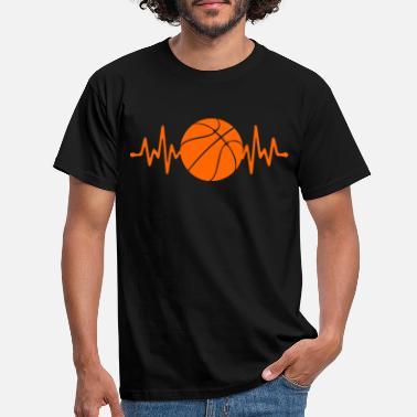 Cadeau de sport de basket-ball noir et blanc de basket-ball T-Shirt