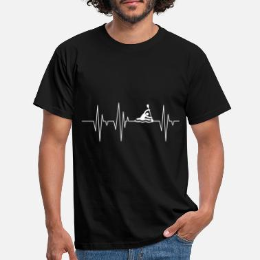 Heartbeat Kayak heartbeat - Men's T-Shirt