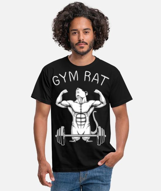 Weightlifting T-Shirts - Gym Rat - Men's T-Shirt black