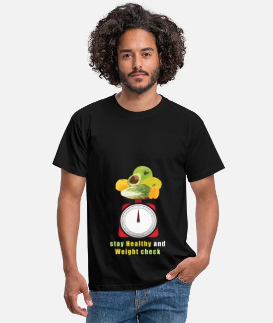 Bless You T-Shirts - Healthy eating scales weigh vegetables fruits - Men's T-Shirt black