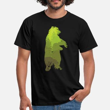 Wildlife Camouflage bear bear silhouette wild animal gift - Men's T-Shirt