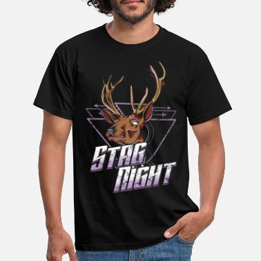 Stag Night Retro Stag Night Bachelor Party - Men's T-Shirt