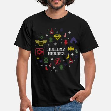 Justice League Holiday Heroes Ugly X-Mas - Mannen T-shirt