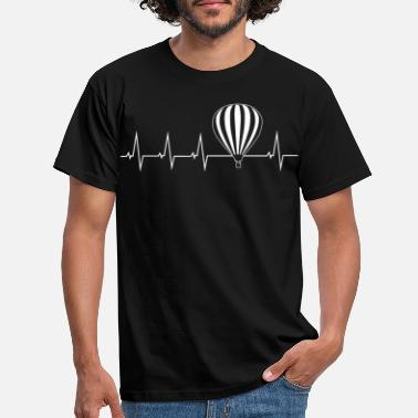 Balloon Hot air balloon - heartbeat - Men's T-Shirt