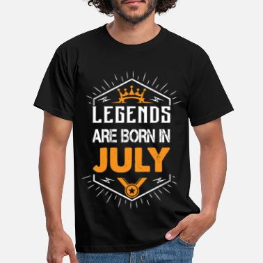 Legends Legends are born in July - Men's T-Shirt