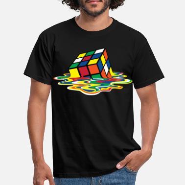 Retro Rubik's Cube Melting Cube - Men's T-Shirt