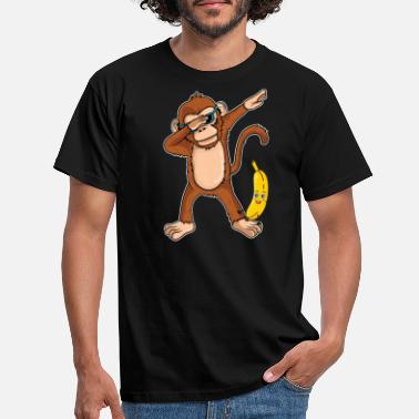 Monkey Dabbing Monkey Dab Dance Banana Gift Birthday - Men's T-Shirt