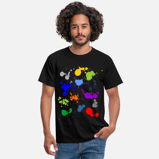Dirty T-Shirts - Colorful splashes of color - Men's T-Shirt black
