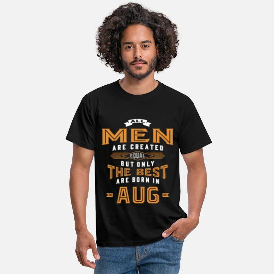 August T-Shirts - Born in August - Men's T-Shirt black