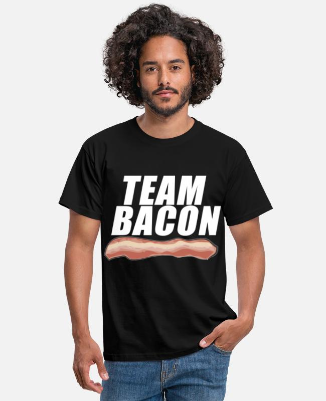 BBQ T-shirts - Team Bacon Bacon Swein BBQ Morgenmad Gave - T-shirt mænd sort