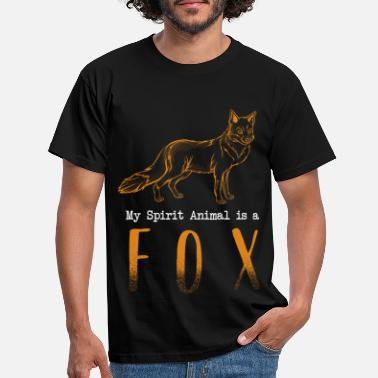 Spiritualist Spirit Animal Fox Spiritualist - T-skjorte for menn
