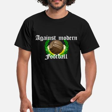 Ultras Against modern Football weis - Männer T-Shirt