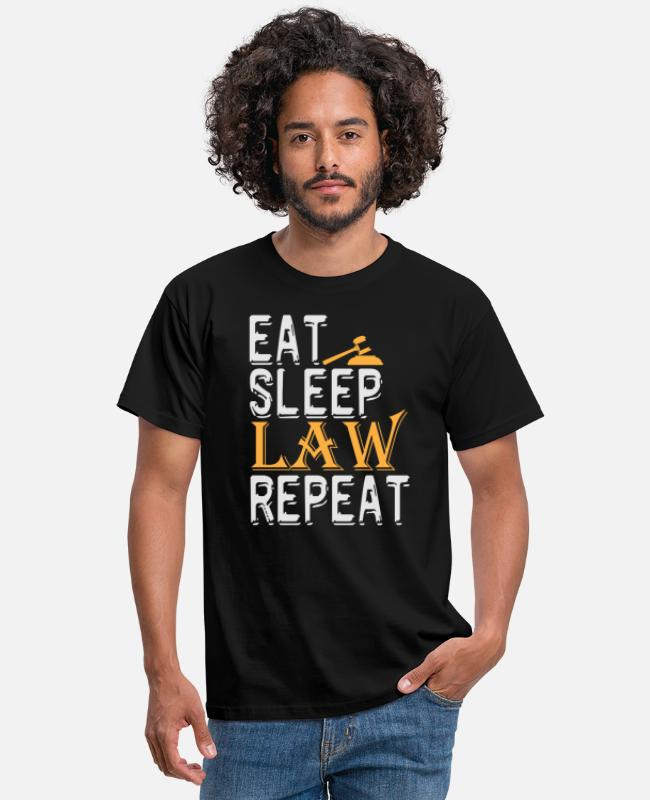Dommer T-shirts - Spis Sleep Law Repeat Shirt Advokat Law Student - T-shirt mænd sort