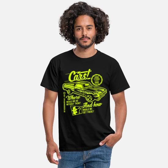 Bikes And Cars Collection V2 T-Shirts - Cars - Men's T-Shirt black