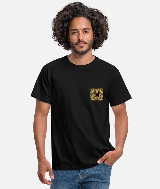 Alphabet T-Shirts - My gold initials - Men's T-Shirt black