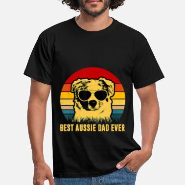 Aussie Vintage Best Aussie Dad Ever Dog Dad T Shirt - Men's T-Shirt