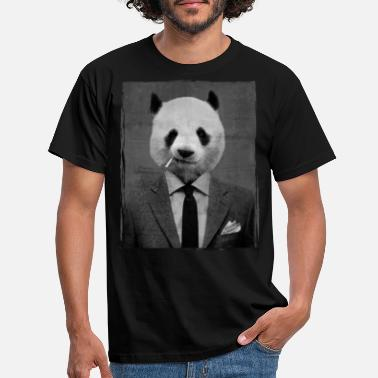 Smoking Dandy Panda - Men's T-Shirt